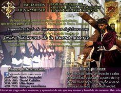 #InscripcionesCuaresma2015 Escuadron de Nazarenos para Jesus de la Muerte en Santo Domingo