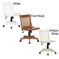 Office Star Deluxe Wooden Bankers Chair | Overstock.com Shopping - The Best Deals on Task Chairs