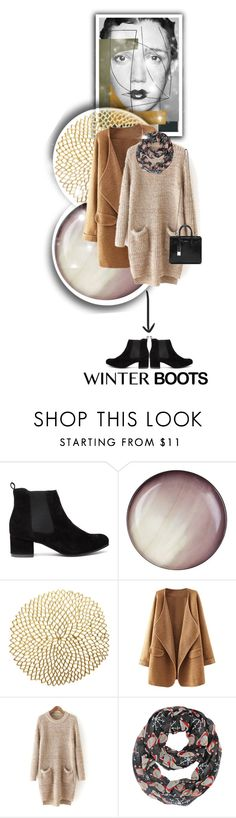 """""""Winter boots"""" by ladybirdfb ❤ liked on Polyvore featuring Dansk, Seletti, Chilewich and Yves Saint Laurent"""