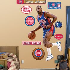 NBA Detroit Pistons from Fathead make a bold statement that cheap alternatives cannot compare to. Detroit Basketball, Detroit Sports, Detroit Pistons, Bad Boys, Nba, Michigan, Tigers, Lions, Game