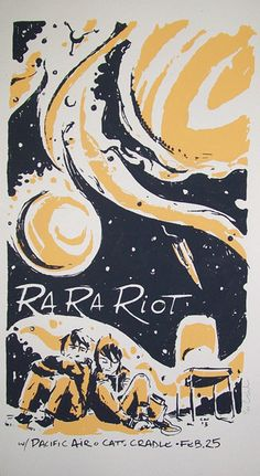 Ra Ra Riot - Pacific Air #music #poster #illustration