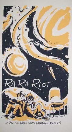 Ra Ra Riot - Pacific Air #music #poster #illustration