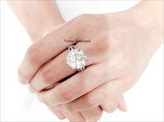 Round diamond ring 10.04 carat/Jcolor/VS2