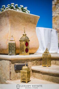 Gold laterns | Wedding Planning & Design by Luxury Estate Weddings & Events | luxuryestateweddings.com