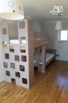Hochbett der Tischlerei Reisenhofer Bed, Furniture, Home Decor, Carpentry, Platform Beds, Bedroom, Wood, Decoration Home, Room Decor