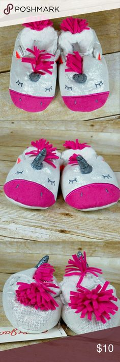 🎉HP🎈 NWT Cat & Jack unicorn slippers 12-24 mos Adorable brand new slippers.  No trades. Cat & Jack Shoes