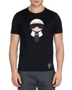 2771108bffa Fendi Karlito Studded Short-Sleeve T-Shirt