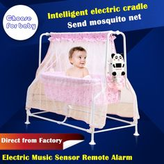 117.03$  Buy now - http://alie3h.worldwells.pw/go.php?t=32496752682 - baby cradle electricity auto-swing baby sleeping cribs cradle sleeping bed help baby sleep well