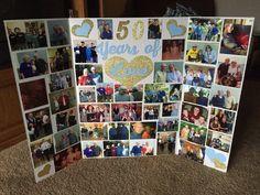 50th anniversary picture display board.