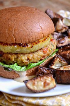 These Vegetarian Teriyaki Burgers are simply mouthwatering! Make this easy veggie burger recipe for dinner tonight!   Hello Little Home