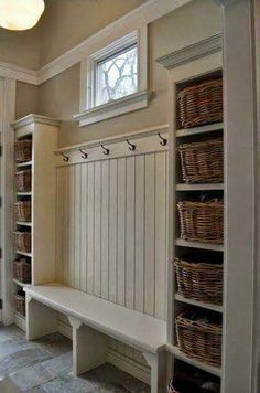 Front entry storage