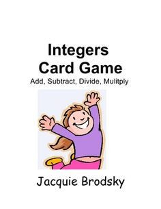Adding, subtracting, multiplying, and dividing integers card game Teaching Secondary, Teaching Math, Maths, Teaching Ideas, Math Stations, Math Centers, Math Resources, Math Activities, Math Games