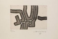 Eduardo Chillida (1924-2002), Ze VI, 1970. Etching and aquatint. Sheet size: 9.8cm H x 14.7cm W. Edition of 50 copies.