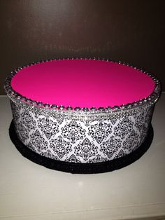 Cake Pop Stand Pink Demask Print Cake stand/Topper Centerpiece display/Party/Table Decoration with Rhinestones on Etsy, $12.99