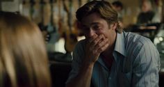 love the look on brad pitt's face watching his on-screen daughter sing to him in Moneyball