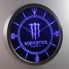 Monster LED Neon Wall Clock