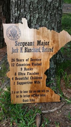 Personalized Retired Military Plaque by BigDDesign on Etsy