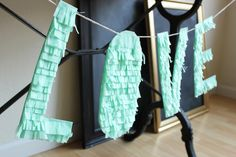 Hank and Hunt - HOME - HOW TO MAKE AN EASY FRINGE LETTER GARLAND