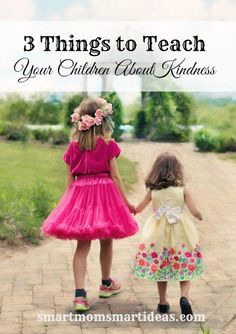 Children need to be kind to their siblings and others.  Teach your children how kindness affects others and how to treat others with kindness.