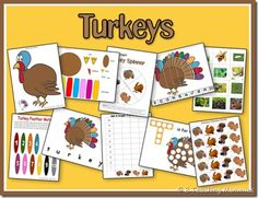 Turkey Printables - The T is for Turkey page -