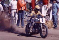 1970-71 Kenny Roberts #1 qualifying at Albany.