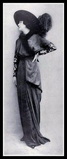 1910-1919 historic facts that influence the fashion at this time: -sinking of the Titanic  -ballets Russes perform in Paris inspiring Asian- influenced harlam pants, kimonos, and turbans -world war 1, clothes become easy for women to work in, therefore hemlines become slightly shorter and colors get darker and monochromatic.