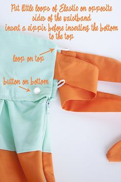 I could use the hot pink where the aqua is... and the gray stripe fabric where the orange is here to come back and tie around... yes, perfect!