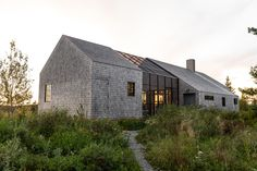 Couple builds themselves cedar-clad retreat Little Peek on Maine island Sustainable Architecture, Residential Architecture, Architecture Details, Modern Architecture, Pavilion Architecture, Japanese Architecture, Cedar Roof, Cedar Shingles, Maine Islands