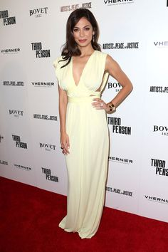 Moran Atias Evening Dress - Moran Atias was sexy yet elegant in a white Grecian gown by Vionnet during the 'Third Person' premiere.