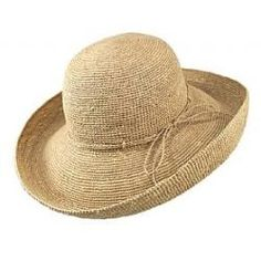From our shop - This Women's Packable Sun Hat is a flattering, classic style you can wear year after year. The large brim comfortably protects your face and neck from the sun. In addition, this hand crochet stitched straw sunhat by sur la tete is packable - making it the perfect hat for travel because you can roll it, pack it and go.  £36 / $68 / €53