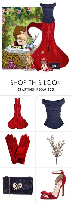 """""""SNow White's kiss"""" by priscilla12 ❤ liked on Polyvore featuring Disney, Zac Posen, Vivienne Westwood Anglomania, Wyld Home, RED Valentino and L.K.Bennett"""