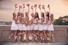 Cute photo idea from for your sisters to recreate using your organizations letters.