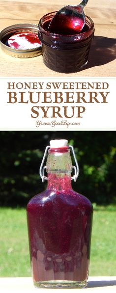 This homemade blueberry syrup with honey allows the true sweet fruit flavor to stand out. Enjoy in tea, on pancakes, in yogurt, and as an ice cream topping.