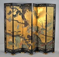 Folding Screens, Folding Walls, Japanese Screen, Japanese Art, Furniture Buyers, Unique Furniture, Victorian Gothic, Victorian Homes, Maximalist Interior