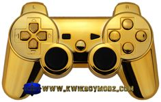 Gold Chrome DualShock 3 PS3 Controller - KwikBoy Modz. Must have!!