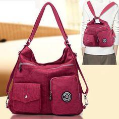 Women Nylon Waterproof Crossbody Bags Casual Outdoor Light Backpack Shoulder Bag - US$24.99