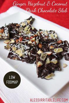 Ginger Hazelnut and Coconut Dark Chocolate Slab | A Less Irritable Life