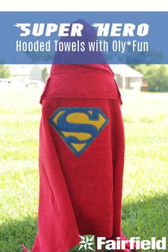 Super Hero Hooded Towels Tutorial, how to make super hero logos and put them on fabric.