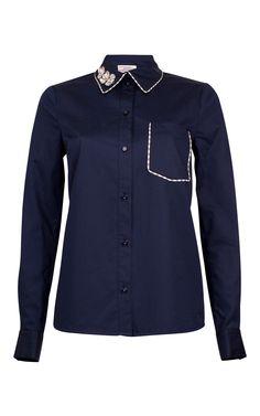 Madhur Embellished Shirt by BAUM UND PFERDGARTEN for Preorder on Moda Operandi