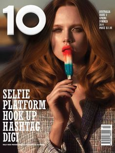 nice 10 Magazine Australia S/S 2014 | Holly Rose por Cedric Buchet  [Capa]