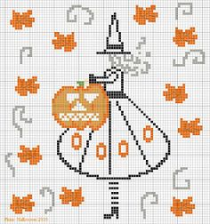 Halloween cross-stitch pattern