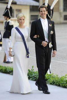 Pavlos and Marie-Chantal of Greece at Princess Madeleine's wedding to Chris O'Neill, 8 June 2013