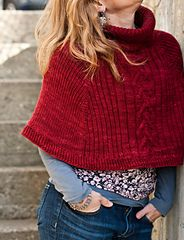 Ravelry: Cranberry Capelet pattern by Thea Colman