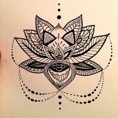 aztec, buddhism, design, drawing, flower, lotus, lotus flower, mandala, pretty, tattoo