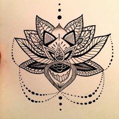 aztec, buddhism, design, drawing, flower, lotus, lotus flower, mandala, pretty, tattoo