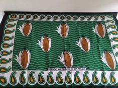 Traditional Kenyan Kanga, 100% heavy cotton with Swahili proverb printed on it, 150x104 cm ♦♦ Cotone al 100%, pareo tradizionale kenyota con proverbio maasai scritto a lato 13€