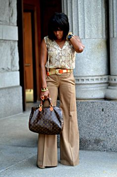 Love the wide leg pants!