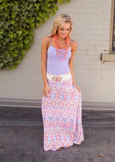 Online boutique. Best outfits. Sunshine Beauty Maxi Skirt Multicolor - Modern Vintage Boutique