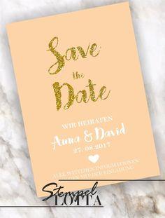 Save the Date INDIVIDUELL Hochzeit Einladung Ankündigung