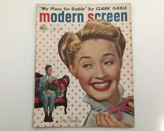 Modern Screen Magazine December 1949 - Cover Jane Powell - Vintage Movie Magazine - Inside Janet Leigh & Clark Gable by BagBagSydVintage on Etsy